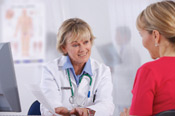 Woman patient consulting Woman doctor about Breast Reconstruction